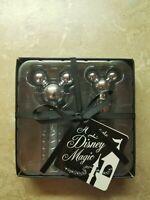 Disney Parks Mickey Mouse Silver Wine Stopper & Bottle Opener Cork Screw NEW