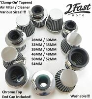 Chrome Clamp On Air Filter Cleaner Custom Honda Bobber Cafe Racer Chopper Mini