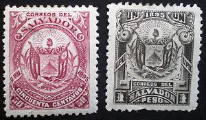 El Salvador 1895 MH Scott #144 -145
