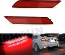 For Honda Civic Sedan 2013-2015 Red Lens LED Rear Bumper Reflector Brake Lights