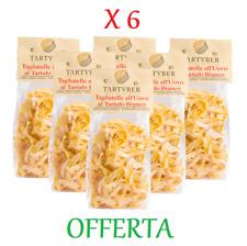 6 X TAGLIATELLE AL TARTUFO BIANCO 250g - Pasta secca all'uovo con Tartufo Bianco