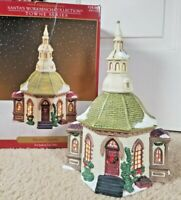 "Christmas Porcelain Hope Chapel 9"" Lighted Santa's Workbench 1999 Towne Series"