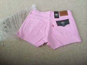 Levis 501 Candy Pink Cut Off Shorts  W26 Size 8 brand new with tags RRP £49.99