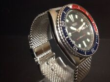 Vintage Seiko 6309-7290 shark mesh Automatic Diver Mens watch UK seller
