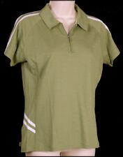 Smartwool Womens Jersey Polo Shirt S Small Zip Neck Hiking Biking Wasabi Green