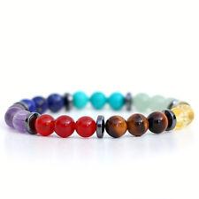 7 Chakra Crystal Bracelet, Healing Gemstones For Balancing, Unisex UK Made