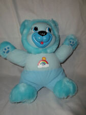 Vintage Baby's 'N Things Blue Rainbow Bear Sound Plush Toy Stuffed Animal