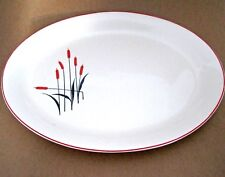 Vintage Serving PLATTER Universal Pottery Sears Roebuck CATTAIL Pattern