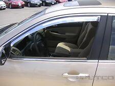 Chrome Trim Window Visors - Fits Honda Accord 2003 04 05 06 2007 (Front Only)