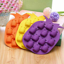 Cute Pineapple Shape Cube Ice Pudding Jelly Maker Mold Mould Sili Gift Tray B2R8