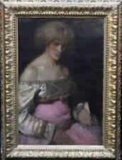 Pink Portrait Art Paintings