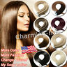 Reusable Seamless Tape in Remy Human Hair Extensions Skin Weft Straight Hair US