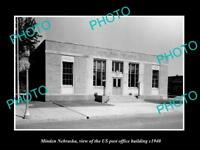 OLD LARGE HISTORIC PHOTO OF MINDEN NEBRASKA, US POST OFFICE BUILDING c1940