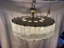 Deckenlampe Julius Theodor Kalmar Eisglas Lampe Design 60er Vintage Kronleuchter
