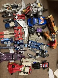 LOT of 16 - Vintage Transformers Hasbro 1980's G1 Incomplete And Parts