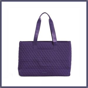 NWT Vera Bradley Dual Compartment Travel Laptop Bag in Elderberry Purple