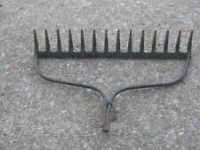 No Handle Original Vintage Garden Rake Head Tool