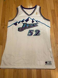 1996-1997 Super Rare Champion Authentic Utah Jazz Gold Logo Game Jersey Size 52