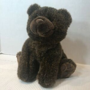 Teddy Bear Plush Brown  YT International 12 Inches High Polyester With Vinyl Paw