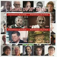 More details for chad famous people stamps 2020 mnh einstein gandhi jfk baden-powell 4v impf m/s