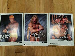 Vintage 1990 WWF Hulk Hogan, Ultimate Warrior, Legion of Doom - Toys'R'Us Prints