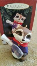 Hallmark 1994 Across the Miles Raccoon Christmas Ornament