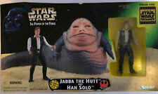 Hasbro Kenner 1997 Star Wars Potf Jabba The Hutt And Han Solo Action Figure Set
