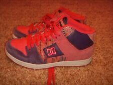 DC HIGH TOP SKATE SHOES PINK PURPLE WHITE WOMENS SIZE 7W