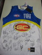 Gold Coast Suns - Team signed away jersey (white) includes G.Ablett Jnr