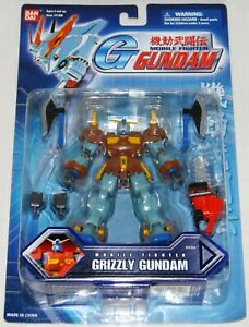 """Bandai Mobile Suit Fighter G GRIZZLY GUNDAM 4.5"""" Action Figure #11314 *MOC* MSIA"""