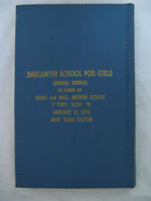 Shulamith School For Girls January 1976 New York Dinner Journal Arthur Schick