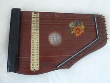 alte kleine Zither Musikus Studio DBWZ Germany ca 1920 antikes Musikinstrument