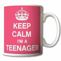 "Acen ""Keep Calm Im a Teenager"" Ceramic Mug, White, 11 oz"
