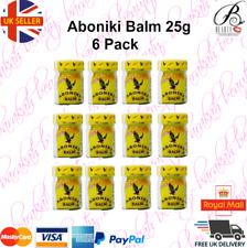 12 x Aboniki Balm Relieves pain, aches, backaches, cold -25g- (12 PACK)