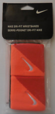 Nike Dri-Fit Tennis Wristbands Total Orange/Team Orange/White 1 Pair New