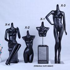 neu Frau Weibliche Dekoration  Schaufensterpuppe ohne Kopf schwarz matt lackiert