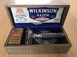 Vintage Wilkinson Sword Empire Model Safety Razor Boxed