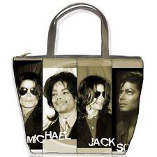 New Michael Jackson Collage Photo Bucket Bag Handbags Gift
