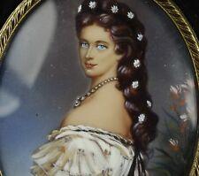 Miniature Portrait Elisabeth von Österreich Sissi Miniaturmalerei Lupenmalerei