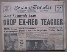 January 15, 1963 Boston Traveler Newspaper STRANGLER, Khrushchev, Ted Kennedy +