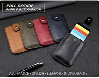 Men RFID Blocking Credit Card ID Holder Slim Money Clip Synthetic Leather Wallet