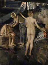 Akseli gallen kallela in sauna 1889 gallen old master art painting print 002OM