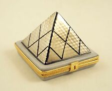 New French Limoges Trinket Box Famous Paris Museum Louvre Pyramid