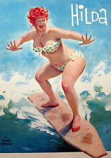 Wall Calendar 2019 [12 pages A4] Hilda Chubby PinUp Girl Redhead Vintage M418