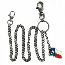 Wallet Chain Kette für Geldbörse Sicherungskette Brieftasche Flagge Texas Lone S