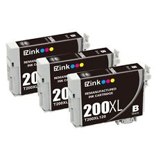 3 Black for 200XL T200XL120 Ink Cartridge fit Epson WorkForce WF-2520 & More