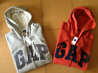 Genuine GAP Men's Zip Hoodie/Jacket - S -XL - Black, Navy, Grey, Blue,Red - BNWT