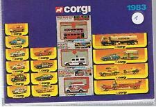 ORIGINAL KATALOG / CATALOQUE CORGI 1983  sehr gut, fast neuwertig !  D,GB, F +++
