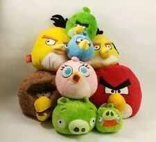 Lot of 9 Angry Birds Red Pink Green Pig Mustache Yellow Stuffed Animals Plush