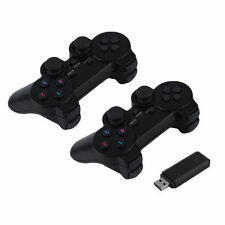 2x 2.4G USB Wireless Dual Vibration Gamepad Controller Joystick For PC Laptop US